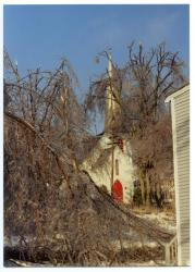 St. Matthews Episcopal Church in ice, Hallowell, 1998