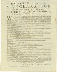 Dunlap Declaration of Independence, 1776