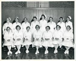 Maine School of Practical Nursing graduating class, Waterville, 1958