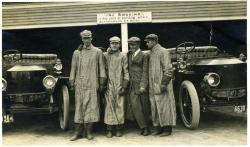 Motor Coachmen and their Stanley Cars, Poland Spring, 1911