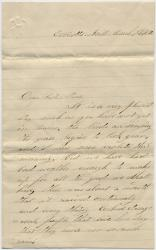 Ned Mitchell letter from Maryland, 1862