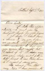 Ned Mitchell letter from Portland, 1863