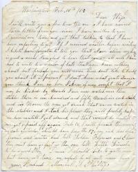 Marshall Phillips letter from Washington, 1865