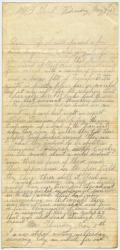 Marshall Phillips letter from West Point, Va., 1862