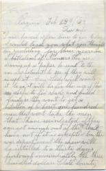 Marshall Phillips to wife on reenlistment, 1864