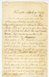 Marshall Phillips on Lincoln assassination, Washington, 1865