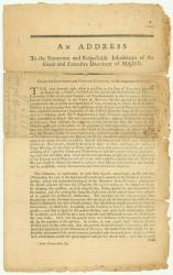 Click here to view historic documents about Maine's attempts to separate from Massachusetts