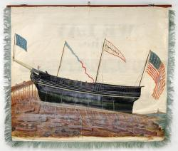 Riggers and Sail Makers banner, Portland, 1841