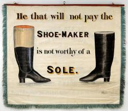Boot and Shoe Makers trade banner, Portland, 1841