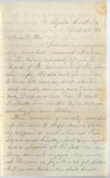 Sgt. Horace M. White to mother, April 22, 1863