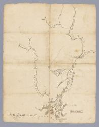 Map # 52. Androscoggin and Kennebec Rivers, ca. 1720