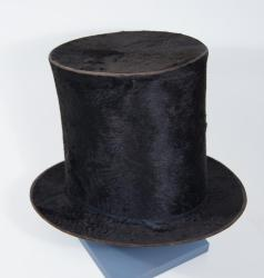 Black fur top hat, Portland, ca. 1855
