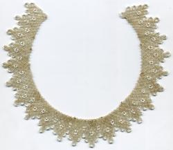 Elizabeth Akers Allen collar, ca. 1870