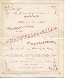 Masquerade Ball, Fire Assocation, Hallowell, 1882