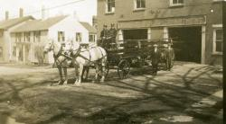 Fire Department Ladder Wagon, Second Street, Hallowell, 1913