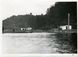 Hallowell Steam & Boom Company, Kenebec River, Hallowell, ca. 1890