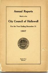 Annual Report, Hallowell, 1907