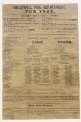 Fire Department, Hallowell, 1843