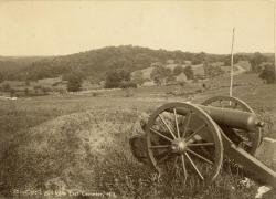 Culp's Hill from East Cemetery Hill, Gettysburg, Pennsylvania, ca. 1865