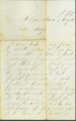William Adams to sister on military routines, Virginia, 1861