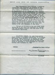 Shaarey Tphiloh sale of furniture to rabbi, Portland, 1921