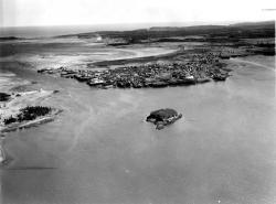 Aerial view looking toward Lubec