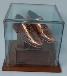 Harold Alfond bronzed shoes, 1989