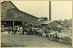 Employees of C. V. Starbird sawmill, Strong, ca. 1910
