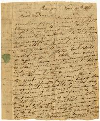John Sawyer letter to Rev. William Jenks about Penobscot agriculture, 1810