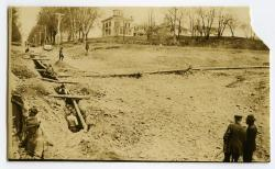 Laying the new water main, Strong, ca. 1921