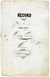 Ahawas Achim record book cover, Bangor, 1853