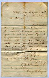 Letter seeking back pay, Virginia, 1861