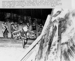 Penobscot Tribal members, Sugarloaf Mountain, 1980