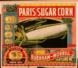 Burnham and Morrill label, Portland, 1891