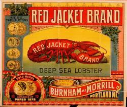 Burnham and Morrill Red Jacket lobster label