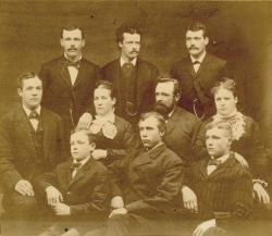 Amos Dolbier Starbird family of Freeman, ca. 1886