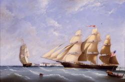 """Clipper ship the """"Portland,"""" ca. 1850"""