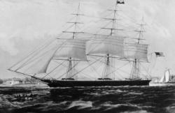 The Nightingale clipper ship, ca. 1880