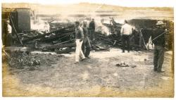Building demolition, Lubec, ca. 1960
