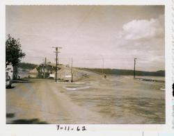 Final work on international bridge, Lubec, 1962