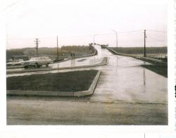 Approach to new international bridge, Lubec, 1962
