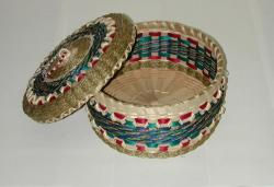 Passamaquoddy basket, Clara and Rocky Keezer