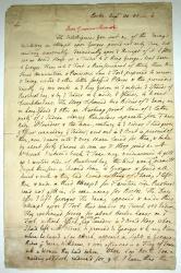 Letter from Thomas Pownall to Robert Monckton