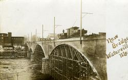 Bridge construction, Waterville, ca. 1911