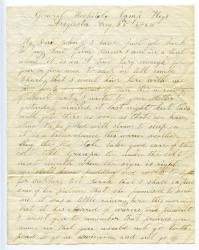 William Haley letter to son in Sebago, 1864