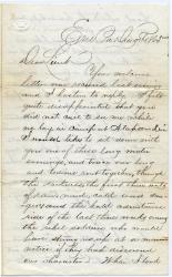 Letter to John Sheahan recalling escape, 1865