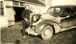 Fannie Brackley and doe, ca. 1937
