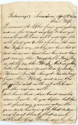Eben Calderwood on lack of action, Louisiana, 1863