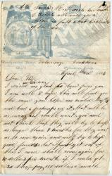 E.S. Calderwood on nine-month enlistment, Baton Rouge, 1863