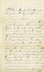 C.A. Garcelon to aunt, Maryland, 1862